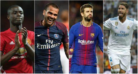 TOP 25 hậu vệ hay nhất thế giới hiện tại: Ngoại hạng Anh áp đảo; Ramos không phải số 1