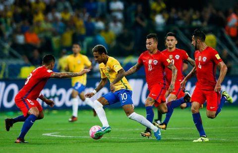 Thua tan nát trước Brazil, nhà ĐKVĐ Nam Mỹ Chile cay đắng mất vé World Cup 2018