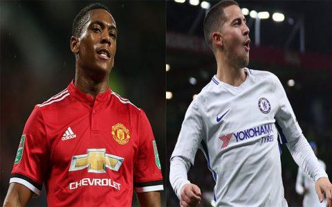 Đội hình tiêu biểu vòng 10 Premier League: Người hùng Martial bất ngờ vắng bóng, Eden Hazard lĩnh xướng hàng công