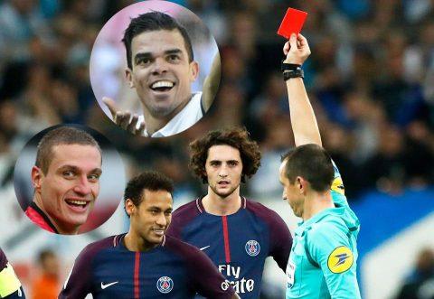 """THỐNG KÊ gây sốc: Vượt mặt cả Vidic lẫn Pepe, Neymar sắp thành """"Vua thẻ đỏ"""" ở… tuổi 25"""