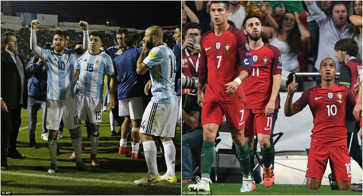 """Xác định 23/32 đội bóng đã giành vé dự VCK World Cup 2018: Ronaldo & Messi """"khóc cùng nhau"""""""
