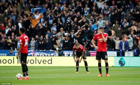 Vào sân thay Phil Jones, Lindelof biến thành thảm họa phòng ngự khiến M.U thua sốc đội mới lên hạng Huddersfield
