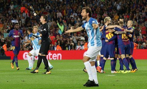 """""""Bàn thắng ma"""" xuất hiện, Barca dễ dàng đánh bại Malaga ngay tại thánh địa Nou Camp"""