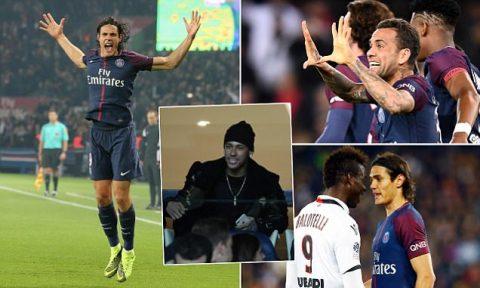 Không cần Neymar, PSG vẫn vùi dập thê thảm đội bóng của Balotelli nhờ song sát Di Maria – Cavani