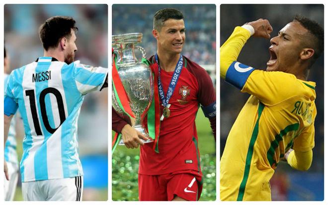 Choáng với đội hình siêu sao trị giá 1 tỷ euro tham dự World Cup 2018: Tam tấu trong mơ Ronaldo – Messi – Neymar
