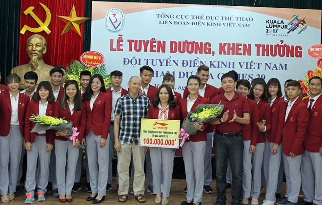 Điền kinh Việt Nam nhận thưởng tiền tỷ sau kỳ tích SEA Games