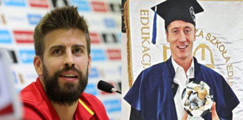 """Lewandowski, Pique và những ngôi sao """"văn võ song toàn"""" của bóng đá TG"""