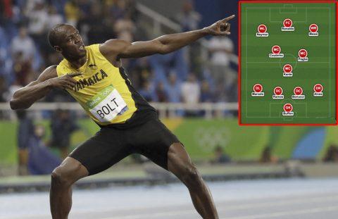 """Đội hình trong mơ của """"Vua tốc độ"""" Usain Bolt: Messi sát cánh Ronaldo, Neymar"""