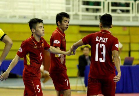 CHÙM ẢNH: ĐT futsal Việt Nam bay cao với chiến thắng hủy diệt 18-0 trước Brunei