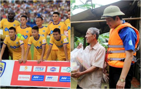Ra tay ủng hộ người dân bị lũ lụt, FLC Thanh Hóa khiến cả V-League phải cúi mình nể phục