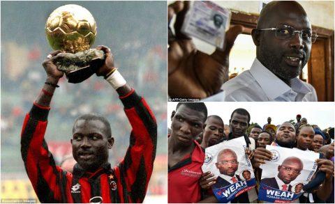 Cầu thủ giành Quả bóng Vàng 1995 trở thành tổng thống khiến tất cả ngỡ ngàng