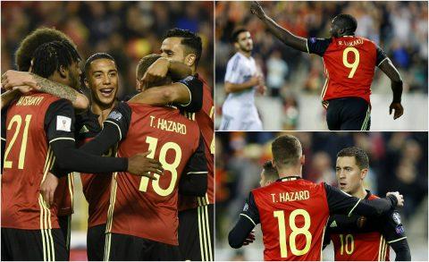 Song sát Hazard – Lukaku ghi bàn, Bỉ dễ dàng đè bẹp Đảo Síp đồng thời tạo nên kỳ tích ở vòng loại World Cup 2018