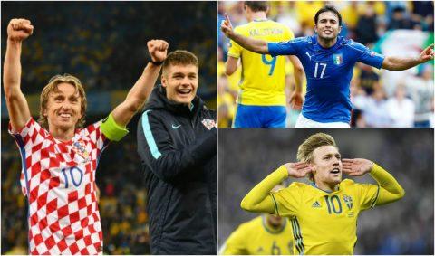 Xác định 4 cặp châu Âu tranh vé vớt dự World Cup: Đại chiến Thụy Điển – Italia; Croatia gặp khắc tinh Hy Lạp