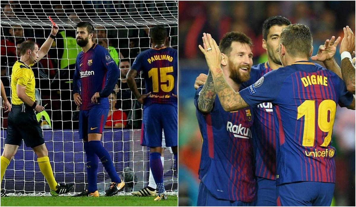 """Barca thiếu người vẫn đại thắng Olympiacos nhờ """" quý ngài 100″ Messi"""