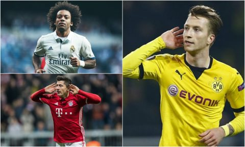 """Những số phận trái ngược của những ngôi sao cận kề """"tuổi băm"""": Nể phục Lewandowski – Marcelo; tiếc cho 'soái ca' Marco Reus"""
