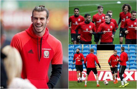 """CHÙM ẢNH: Bale và các đồng đội rạng rỡ trước trận """"một mất một còn"""" với Ireland"""