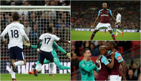 """Dẫn trước 2 bàn, Tottenham vẫn bị """"búa tạ"""" đá bay khỏi League Cup với màn thua ngược không tưởng"""