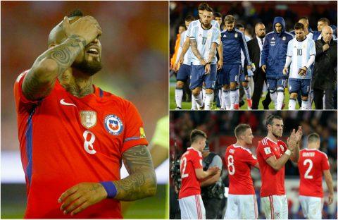 """TOP 5 """"đại gia"""" có nguy cơ lớn phải ngồi nhà xem World Cup 2018"""