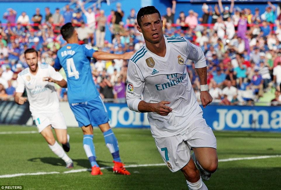 Ronaldo giải cơn khát bàn thắng, Real nhọc nhằn vượt ải Getafe