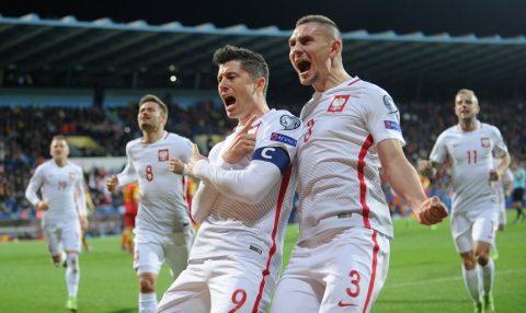 """Tiếp tục vượt mặt Ronaldo, """"người hùng"""" Lewandowski đưa Ba Lan thẳng tiến đến Nga dự World Cup 2018"""