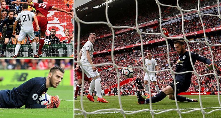 Thi đấu bạc nhược, M.U may mắn rời Anfield với 1 điểm nhờ tài năng của De Gea