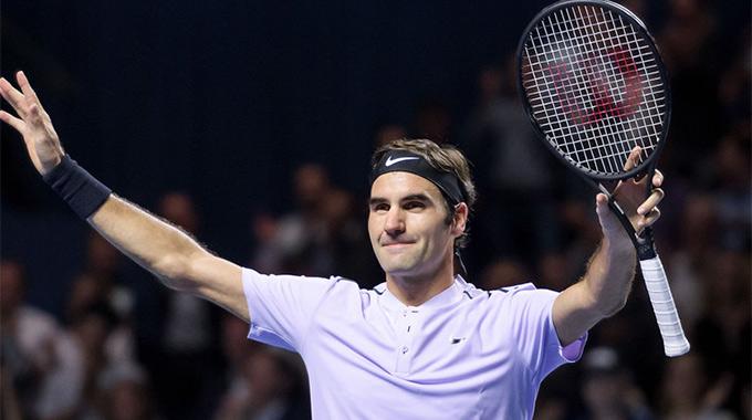 Tốc hành đánh bại Goffin, Roger Federer đối đầu Del Potro ở Chung kết Basel Open