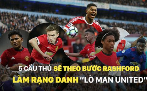 """5 tài năng trẻ hứa hẹn sẽ theo bước Rashford làm rạng danh """"Lò Man United"""""""