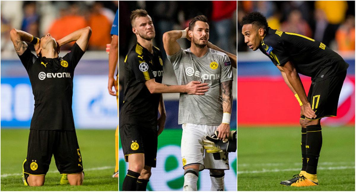 CHÙM ẢNH: Dortmund suy sụp sau trận hòa đội lót đường, đứng trước nguy cơ sớm bị loại