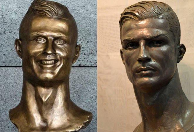 Cuối cùng Ronaldo cũng đã được đúc lại bức tượng từng trở thành trò hề MXH của mình