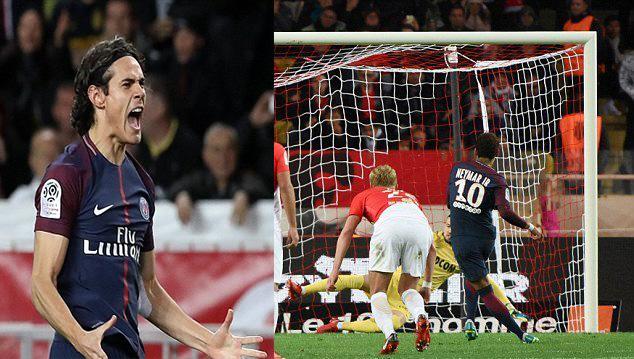 Song sát Neymar – Cavani cùng nhau 'nổ súng', PSG hạ gục ĐKVĐ Monaco ngay trên sân đối thủ