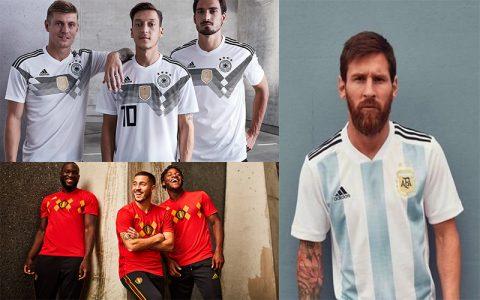 World Cup 2018 đã cận kề, hàng loạt ông lớn cho ra mắt mẫu áo đấu mới đẹp mê ly
