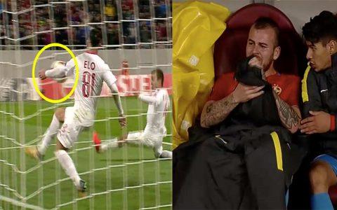 HY HỮU: Trọng tài phớt lờ pha cứu thua bằng tay lộ liễu ở Europa League, cầu thủ khóc nức nở vì bị… thay ra sân