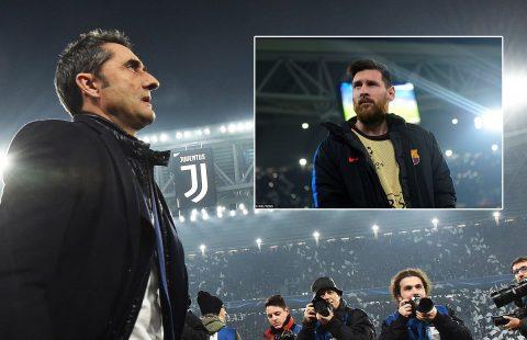 HLV Valverde lý giải nguyên nhân đẩy Messi lên băng ghế dự bị trong trận đấu với Juve