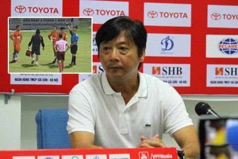 HLV Lê Huỳnh Đức tố học trò cố tình nhận thẻ đỏ trong trận cầu chia tay