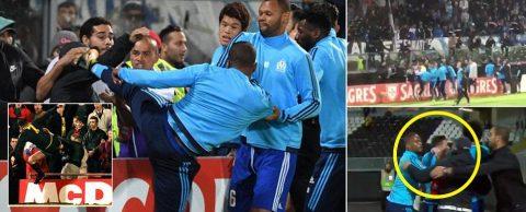 SỐC: Tái hiện cú kung-fu kinh điển của Cantona vào mặt CĐV, cựu sao M.U bị đuổi khi trận đấu còn chưa diễn ra