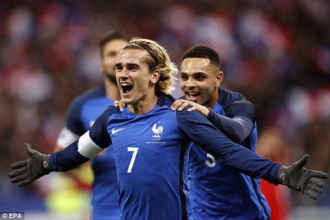 Song sát Griezmann – Giroud đồng loạt nổ súng, Pháp dễ dàng hạ gục xứ Wales không Bale
