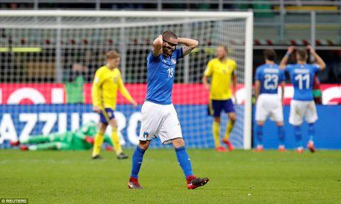 Gục ngã dưới chân Thụy Điển, Italia chính thức ngồi nhà xem World Cup sau 60 năm