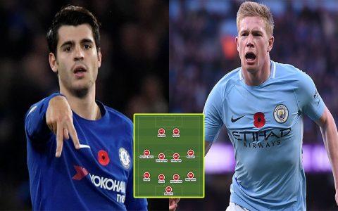Đội hình tiêu biểu Ngoại hạng Anh vòng 11: Sắc xanh lên ngôi