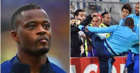 """Tung cú """"vô ảnh cước"""" vào mặt CĐV, Evra tiếp tục nhận thêm án phạt cực nặng từ UEFA"""