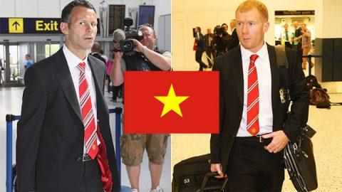 Làm thế nào để gặp bộ đôi huyền thoại Ryan Giggs và Paul Scholes khi họ đến Việt Nam?