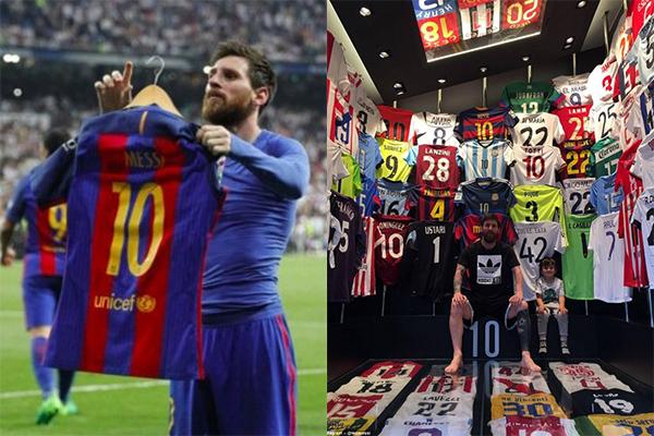 Bộ sưu tập áo đấu của Messi vẫn còn thiếu duy nhất một cái tên siêu đẳng này!
