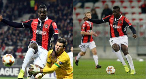 """CHÙM ẢNH: """"Ngựa chứng"""" Balotelli rực sáng với cú đúp đưa Nice thẳng tiến vào vòng knock-out"""