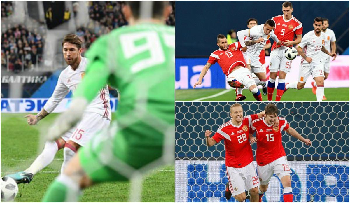 Đội trưởng Ramos lập cú đúp, Tây Ban Nha vẫn bị chủ nhà Nga cầm hòa đầy kịch tính
