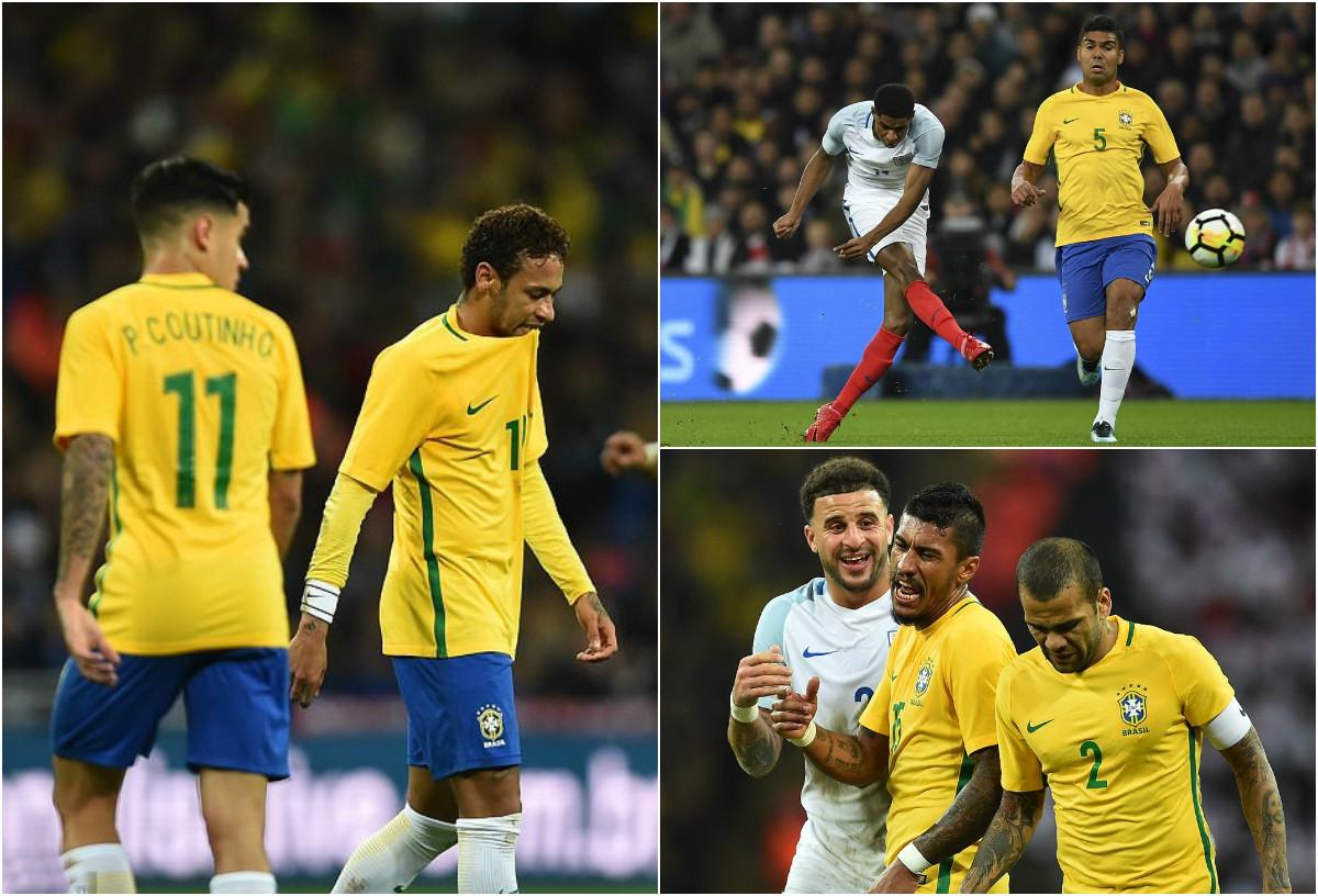 Neymar bị phong tỏa, Brazil bất lực toàn tập trước những chú sư tử Anh