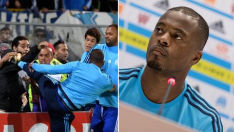 """Tung cú """"nộ long cước"""" vào mặt fan cuồng, Evra CHÍNH THỨC nhận án phạt cực nặng từ Marseille"""