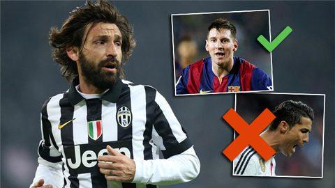 Pirlo chọn Messi, thẳng tay loại Ronaldo khỏi đội hình trong mơ siêu khủng của mình