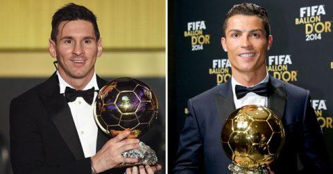 SỐC: Ronaldo chủ động gọi điện cho Messi thông báo đã giành Quả bóng vàng 2017