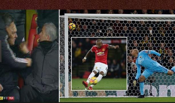 Mourinho choáng váng, sốc toàn tập trước siêu phẩm đá phạt đẹp như mơ của Ashley Young