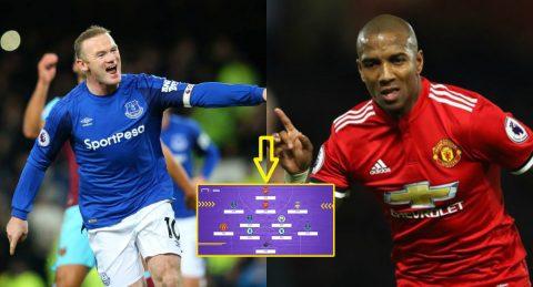 ĐH tiêu biểu vòng 14 Premier League: Ngả mũ trước Rooney và Young của 'mùa chuyển nhượng'