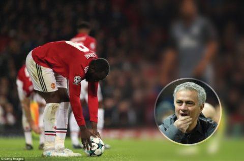 Vì sao Mourinho đổi quyền đá Pen khiến Lukaku tiếp tục chuỗi trận đói bàn thắng kỷ lục?